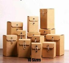 Kraft Paper Gift Boxes For Packing Ideas Souvenirs Giveaway Packaging 10 Pcslot