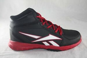 YOUTH-REEBOK-CLEAN-SHOT-BASKETBALL-SHOE-M44096-BLACK-RED-WHITE