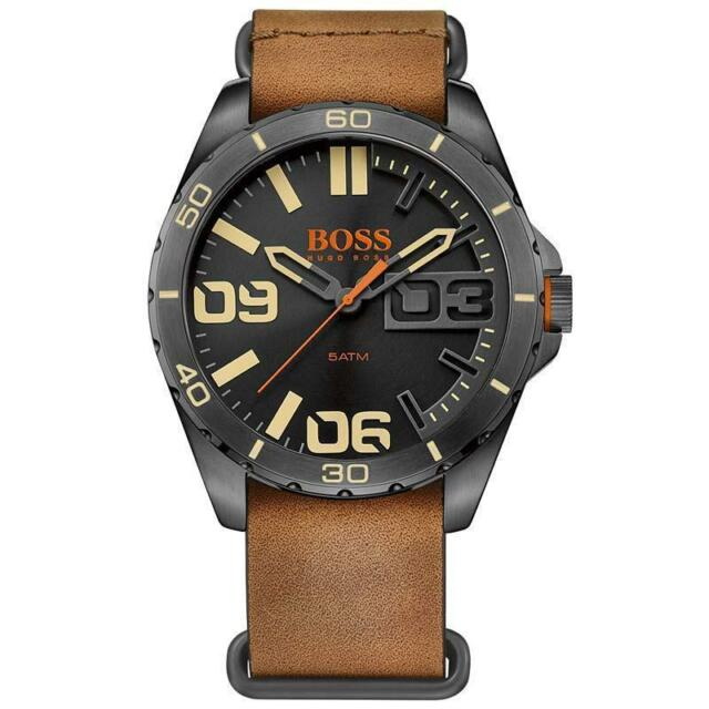 NIB Hugo Boss 1513316 Orange Berlin Men's Watch MSRP $ 205