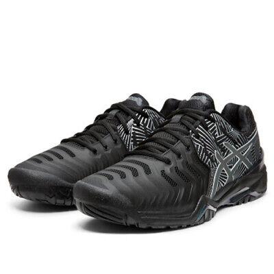 Asics Gel-Resolution 7 L.E. Men's Tennis Shoes Black Racket Racquet 1041A108-001 | eBay