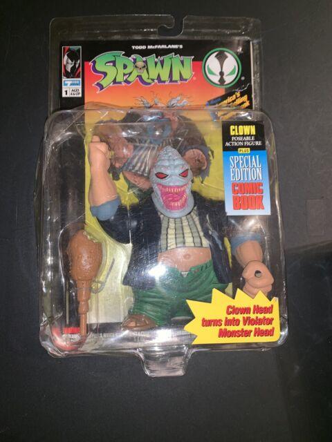 1994 Spawn Clown Violator Action Figure Plus Comic Book