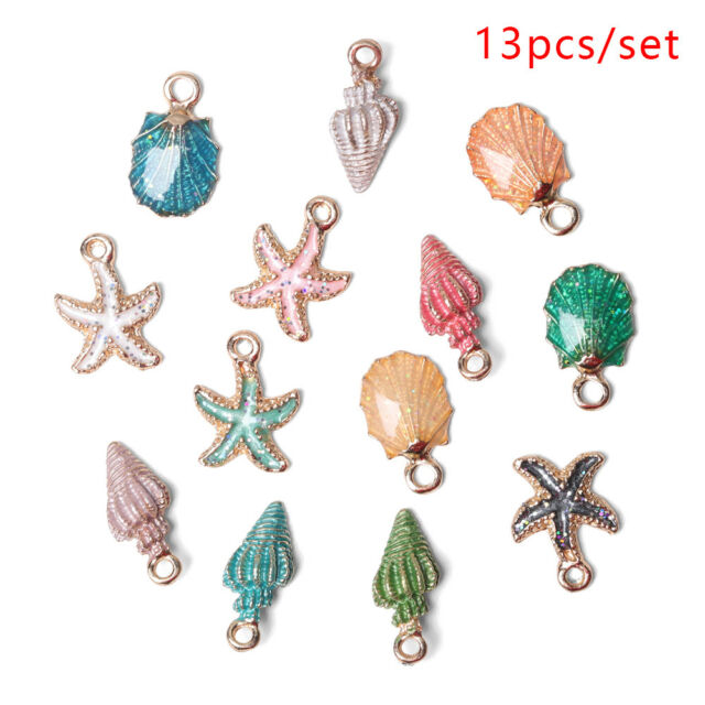 Craft Making Ocean Pendants Handmade Accessories Sea Shell Conch Charms