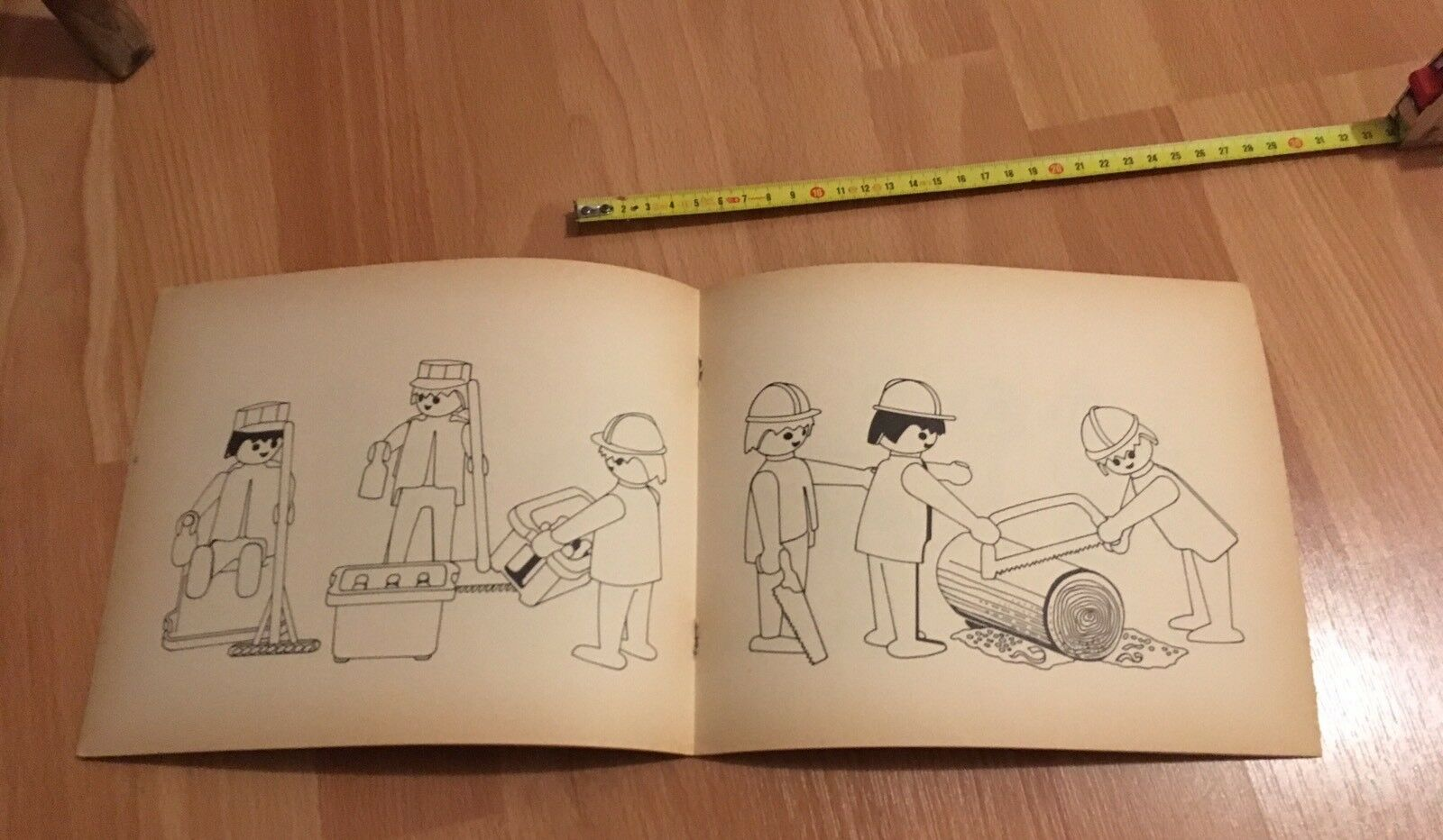 N•5     RARE LIVRE Book PLAYMOBIL System COLOR 1975 TRAVAUX WORK WORKER'S ebf05b