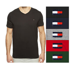 73fe5e20c NEW Tommy Hilfiger CORE FLAG V Neck / Crew Neck T Shirt Authentic ...
