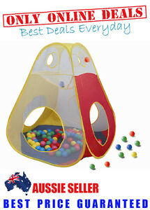 Childrens-Kids-Toddlers-Pop-Up-Cubby-Play-Pen-Tent-100-Ball-Pit-House-Gym