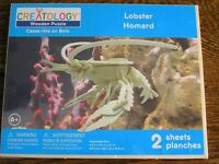 Creatology Lobster Wooden 3-d Puzzle Kit For Ages 6+nip Boys & Girls