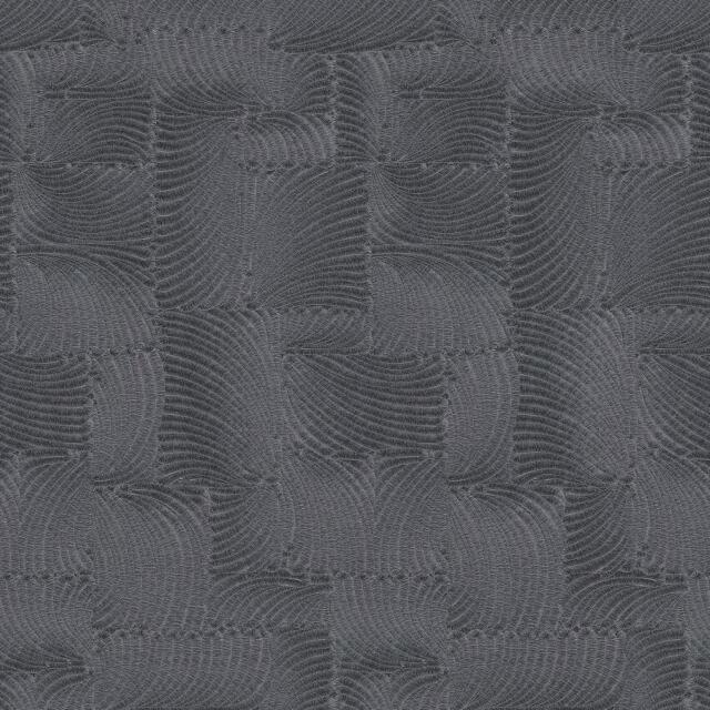 P&s international Gmk Plume Motif Papier Peint Feuille Carré Métallique Noir