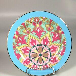 Anthropologie-abstract-Salad-Plate-fleur-de-lis-medallion-dessert-plate