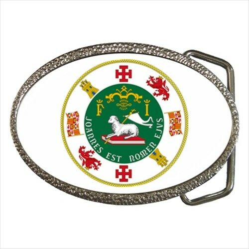 Heraldic Surcoat Seal of Puerto Rico USA Chrome Finished Belt Buckle