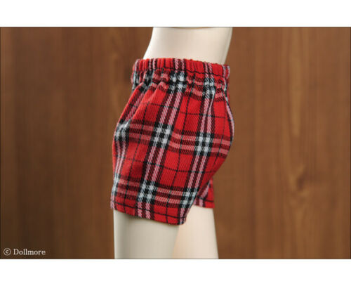Popstar Trunk 1//4 BJD outfits underwear MSD Dollmore Check Red