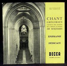Grégorien Dédicace - Epiphanie Solesmes Gajard 173 858 LP NM, CV EX