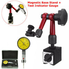 Magnetic Base Holder Stand With Face Dial Test Indicator Gauge Scale Precision Set