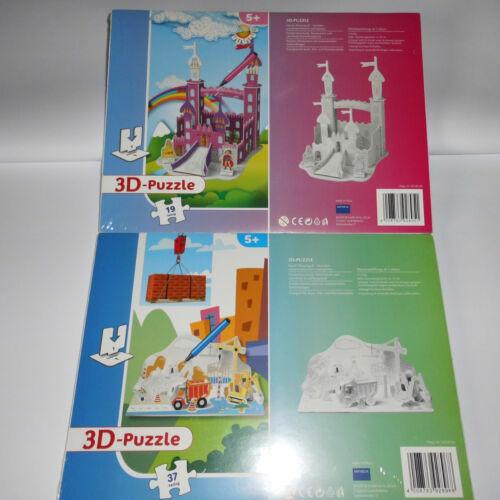 3D Puzzle zum selber Bemalen ab 5 Jahre Motiv Schloß oder Baustelle 3D Puzzles