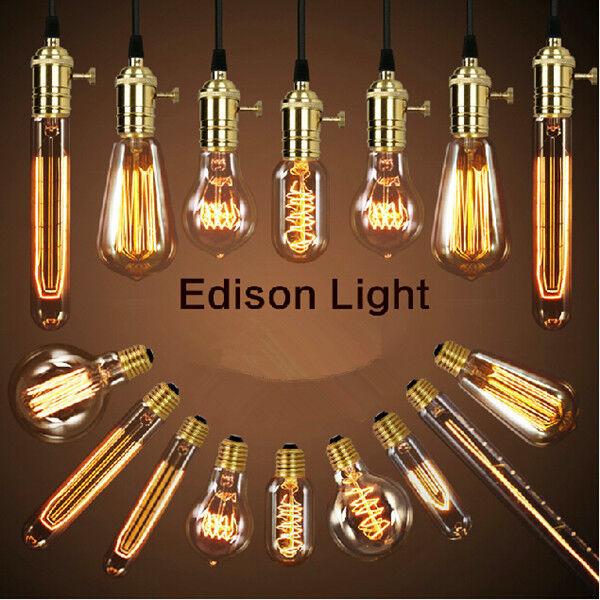 Filament Light Bulbs Vintage Retro Antique Industrial Style edison Lamp E27 40W