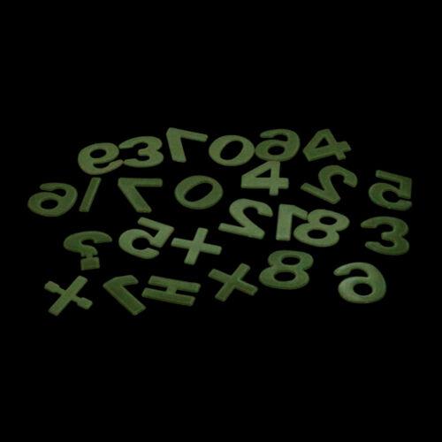 26pcs Glow In The Dark Number Figure Fluorescent Education Sticker KidsBedroomV!