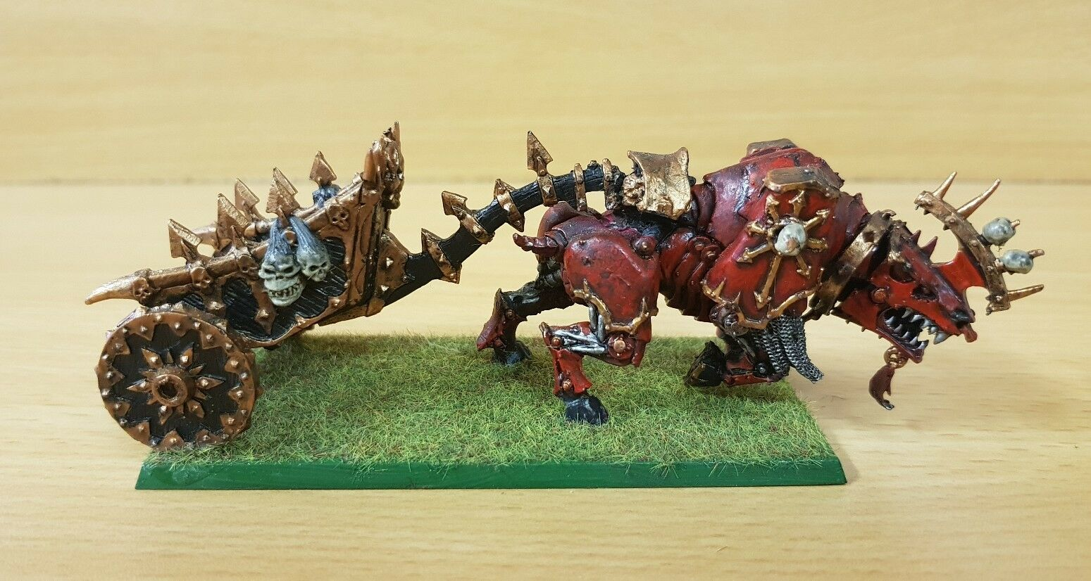 Chaos Daemons Bloodcrusher of Khorne congreened Chariot well painted metal OOP