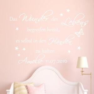 Wandtattoo Kinderzimmer Baby Personalisiert Das Wunder Des Lebens Namen Wunsch Ebay