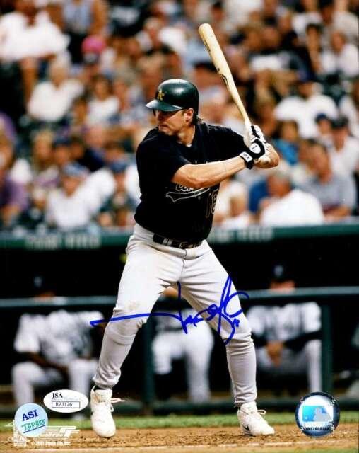 Jason Giambi Jsa Certified Authentic Hand Signed 8x10 Photo Autograph