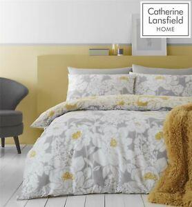 Catherine Lansfield Saskia Floral Easy Care Single Duvet Set Ochre