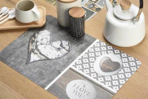 Venilia Tischset bedruckt Love in wood 45 x 30 cm