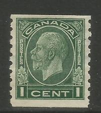 Canada 1933 King George V 1c dark green coil (205) MH