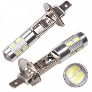 2X-H1-10LED-5630-Scheinwerfer-Fernlicht-Abblendlicht-Birne-6000K-Motorrad-ATV