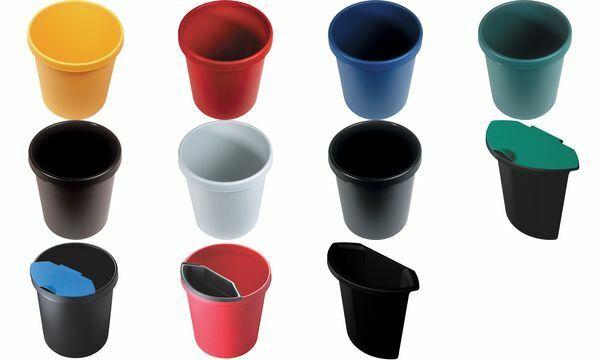 helit Abfalleinsatz Kunststoff ohne Deckel schwarz 2 l