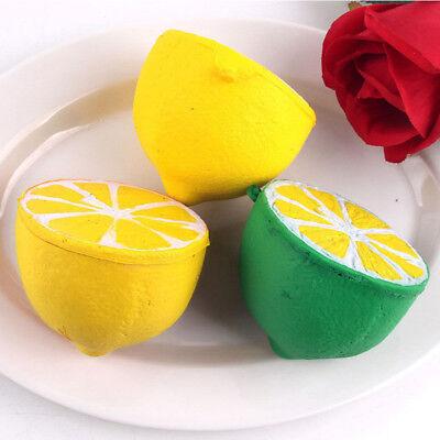 Jumbo Squishy Half Lemon Fruit Scented Super Soft Slow Rising Kid Toy Keyring