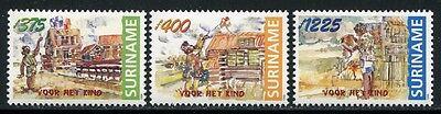 Motive Europa Erfinderisch Surinam 1998 Drachen Kinder Children 1674-1676 ** Mnh