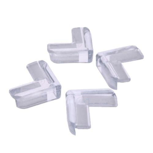 4pcs Kids Baby Safety Transparent Protector Cover Table Corner Guards UK