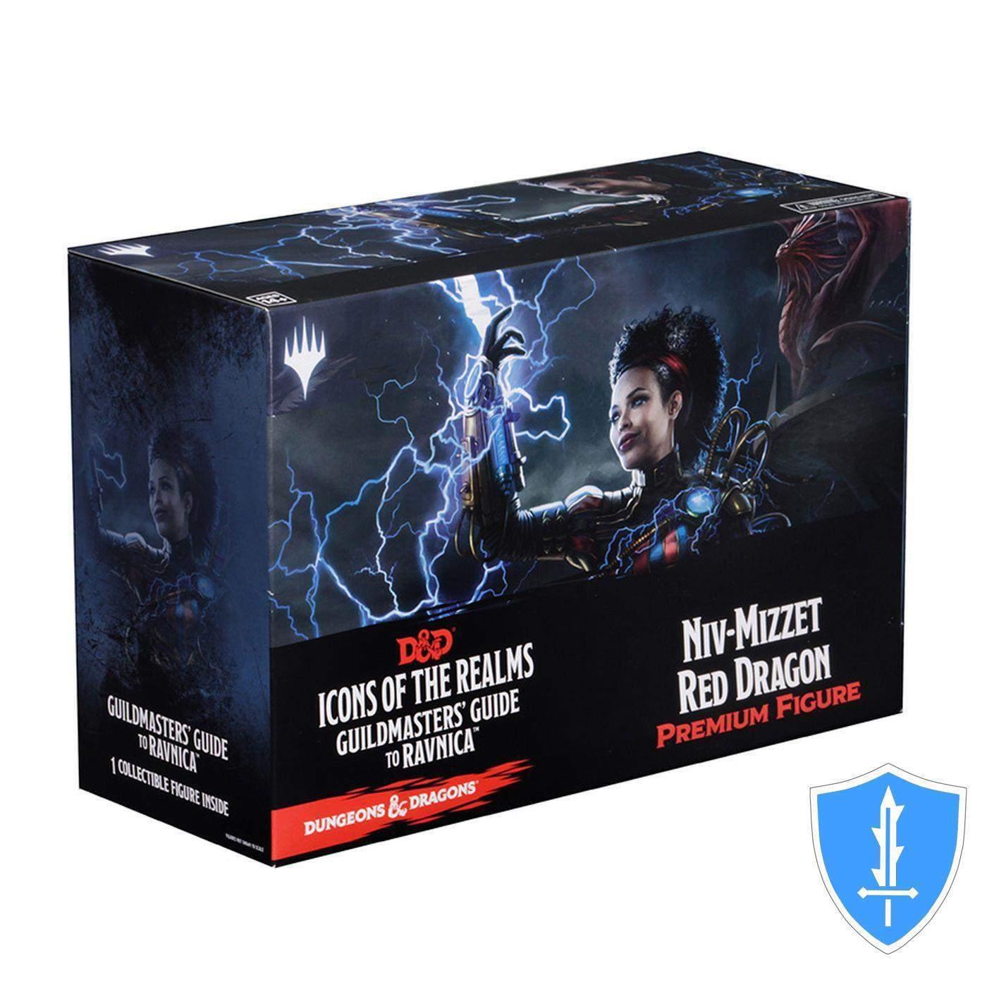 Mizzet hervor, roten drachen - guildmasters leitfaden ravnica d & d dungeons promo nib
