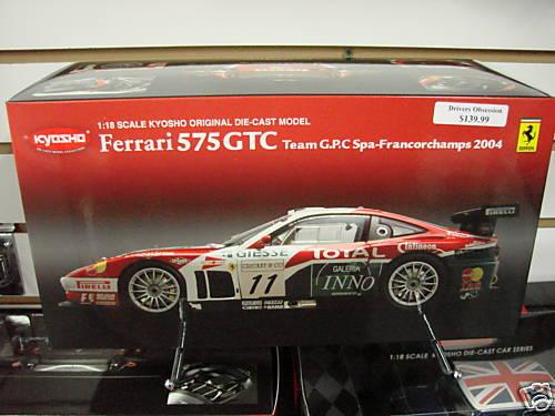 1 18 FERRARI 575 GTC G.P.C SPA-FRANCORCHAMPS 2004 KYO