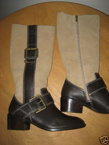 NEW VS COLIN STUART tan knee high riding boots 7.5 SWEET a must have for fall