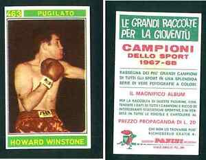 Howard-Winstone-GB-Panini-Boxing-CARD-1967-VG-n-463-RARE