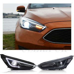Image Is Loading Rhd Led Headlights For Ford Focus Mk3 St2