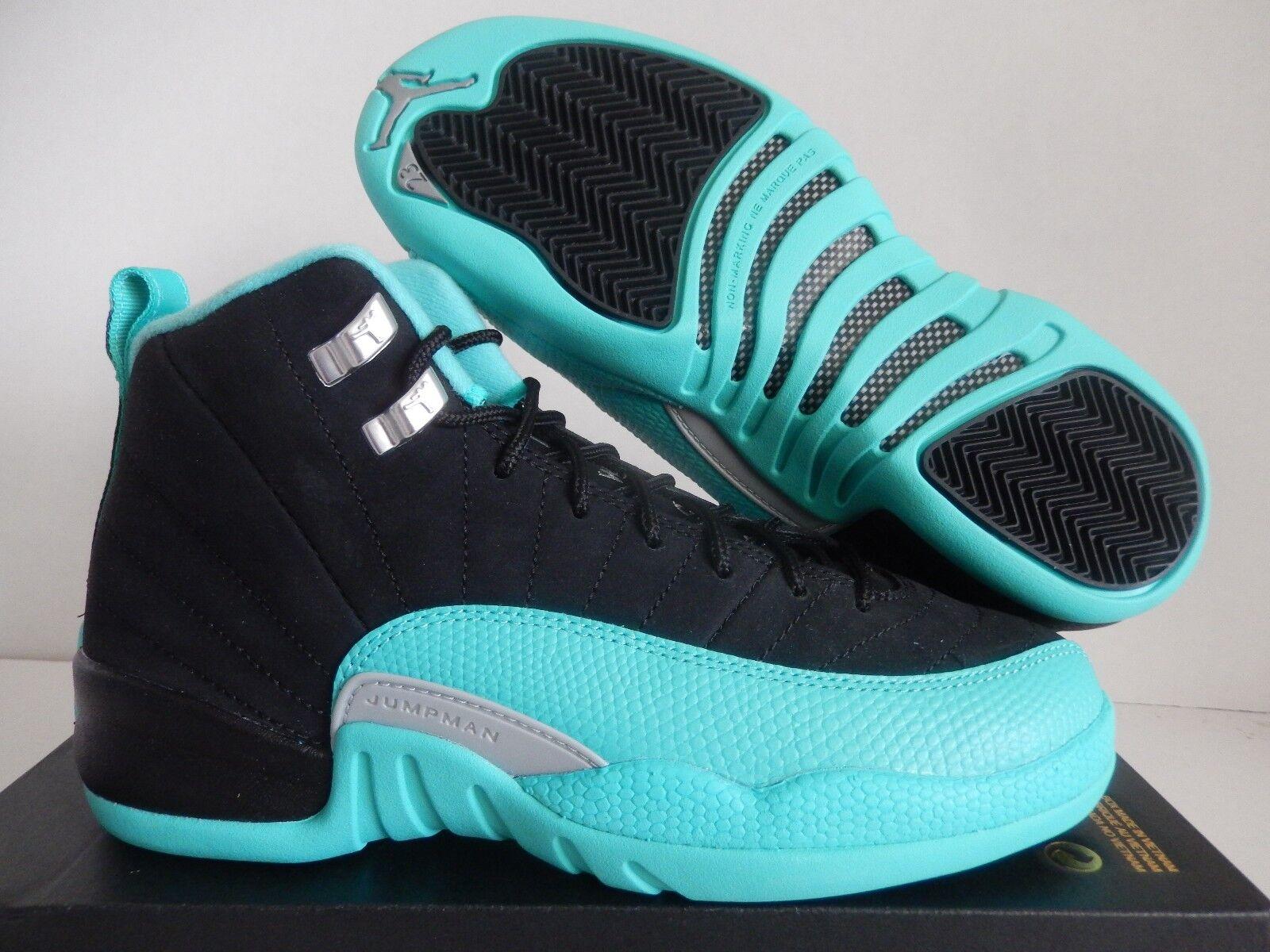 2c598539a889 Nike Air Jordan 12 XII Retro GG GS Youth HYPER Jade Black 510815-017 ...