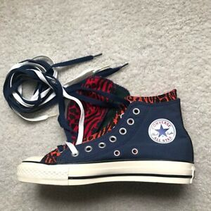 70206f7430d3 Converse Custom Made Hightop Sneakers Women s size 7 Blue w Orange ...