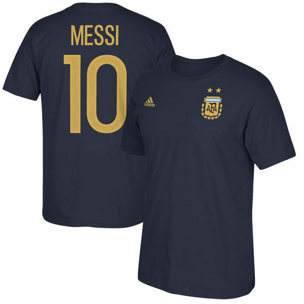 Adidas silverina Messi 2017 Confederation Hero  Soccer Shirt Brand New Navy