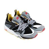 Puma Blaze Of Glory Bau Mens Black Leather & Suede Athletic Training Shoes