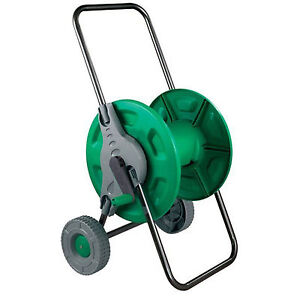 New Hose Pipe Reel Holder Trolley Cart Garden Water Portable Free Standing Ebay