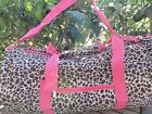 CHEETAH DUFFEL BAG Overnight Beach Gym Sport Travel Leopard Duffle 19 x 9