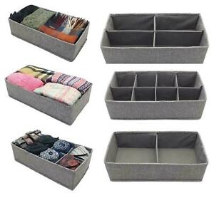 NEW GREY SECTION DRAWER DIVIDER TIDY CHEST DRAW ORGANISER STORAGE ACCESSORY
