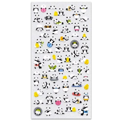 CUTE PLAYING PANDA STICKERS Bear Animal Sticker Sheet Kawaii Kid Craft Scrapbook