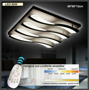8010 Plafonnier LED Télécommande Intensité Variable Coloris Blanc Fluo Ajustable