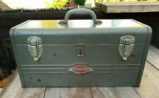 Cool Vintage Craftsman 18 Tool Chest Box 1950s Oval Logo Removable Metal Tray