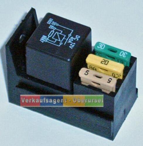 Auto//Yacht//Boot 3 Sicherungshalter Relaissockel für KFZ Relais inkl