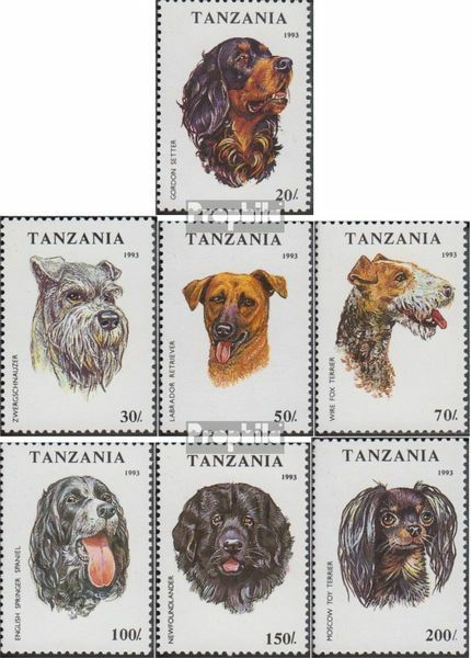 Tanzania 1599-1605 (complete.issue.) unmounted mint / never hinged 1993 Dogs