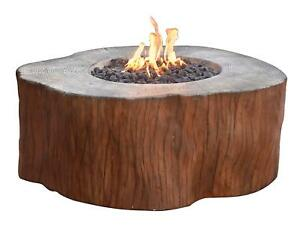 Details About Elementi Outdoor Manchester Fire Pit Table 42 X 40 Inches  Natural Gas Fire Bowl