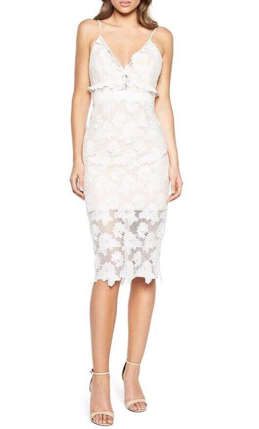 Bardot Vienna Lace Overlay Dress Ivory Größe Medium 6-8 US New