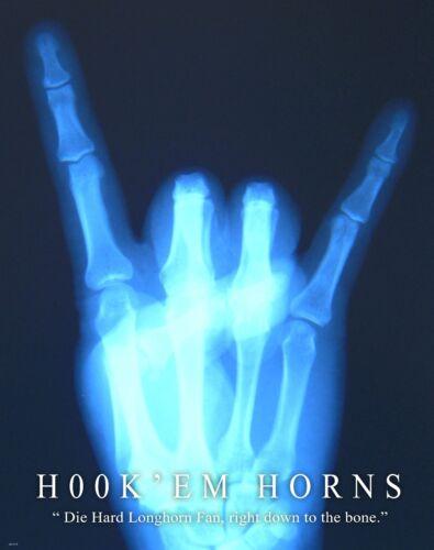 Medical Doctor X-ray Motivational Poster Art Print Texas Longhorns Books MVP375